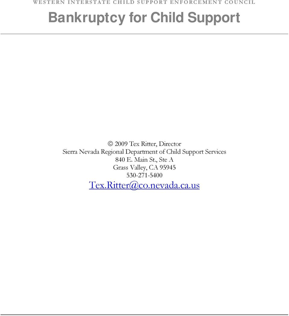 Regional Department of Child Support Services 840 E. Main St.