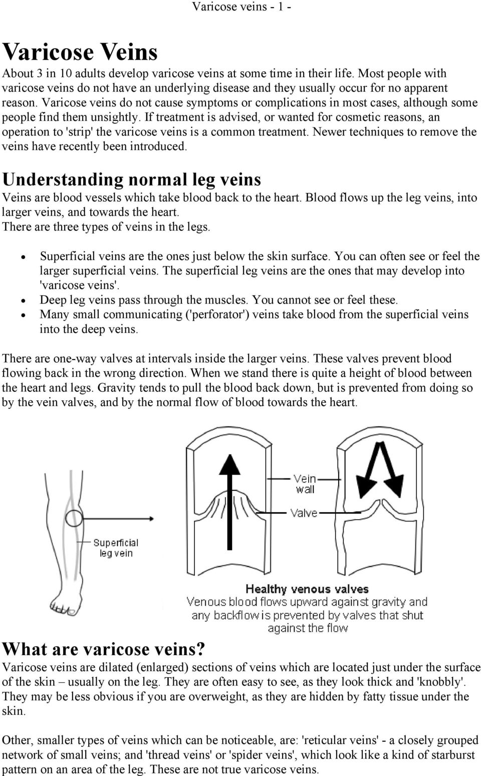 Varicose veins do not cause symptoms or complications in most cases, although some people find them unsightly.