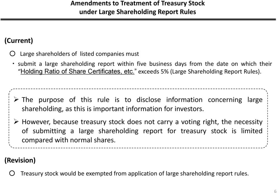 The purpose of this rule is to disclose information concerning large shareholding, as this is important information for investors.