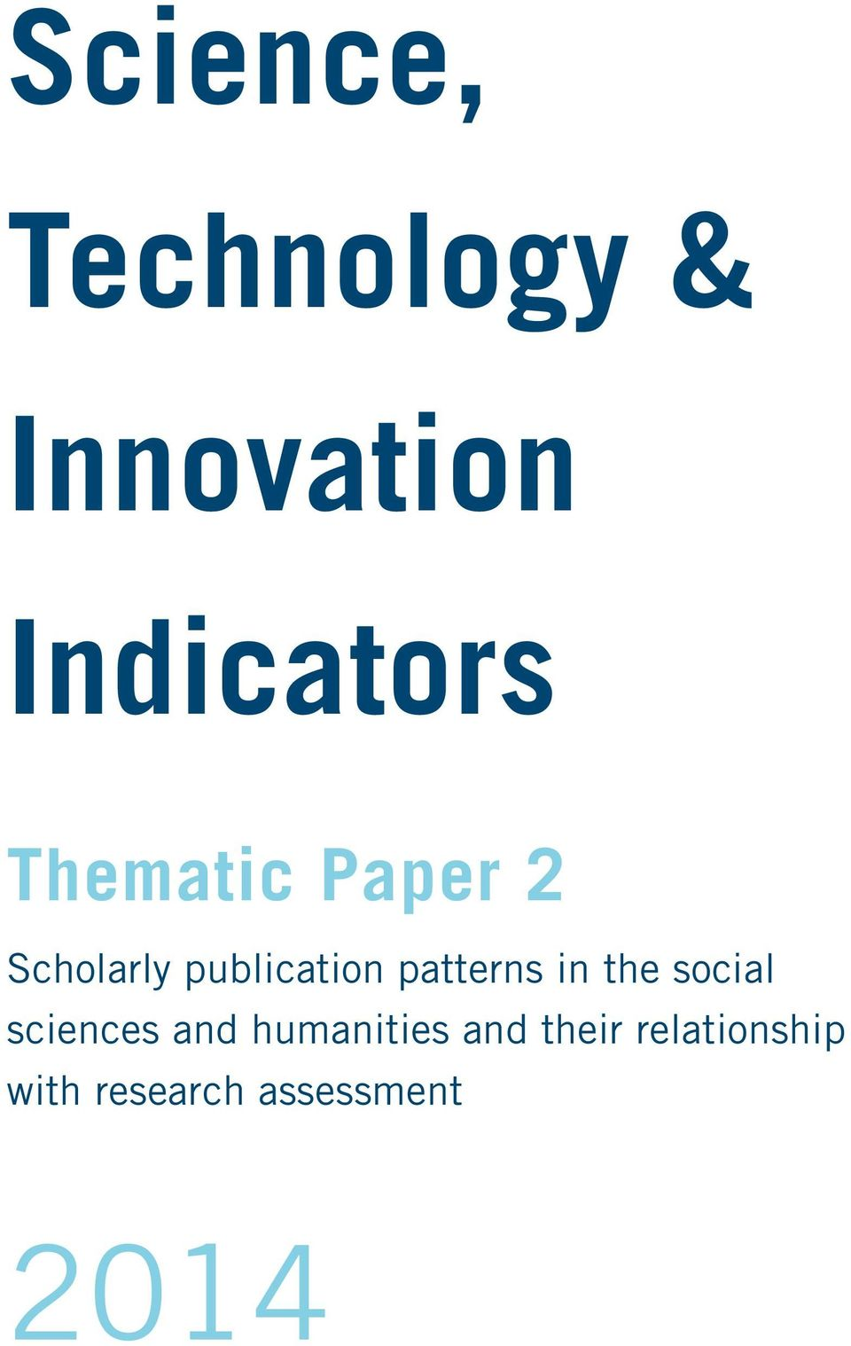 patterns in the social sciences and