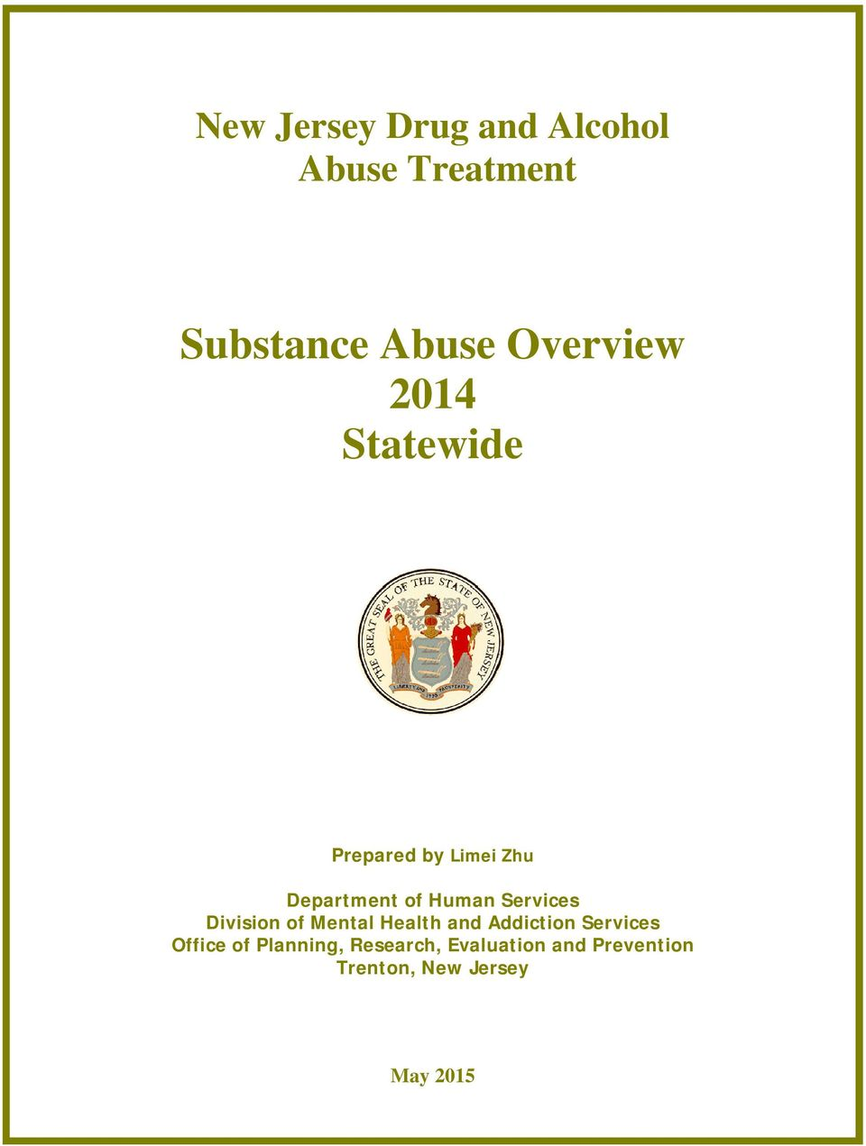 Services Division of Mental Health and Addiction Services Office