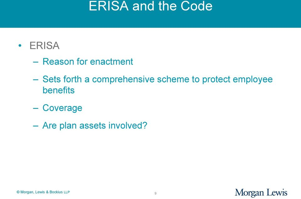 scheme to protect employee benefits