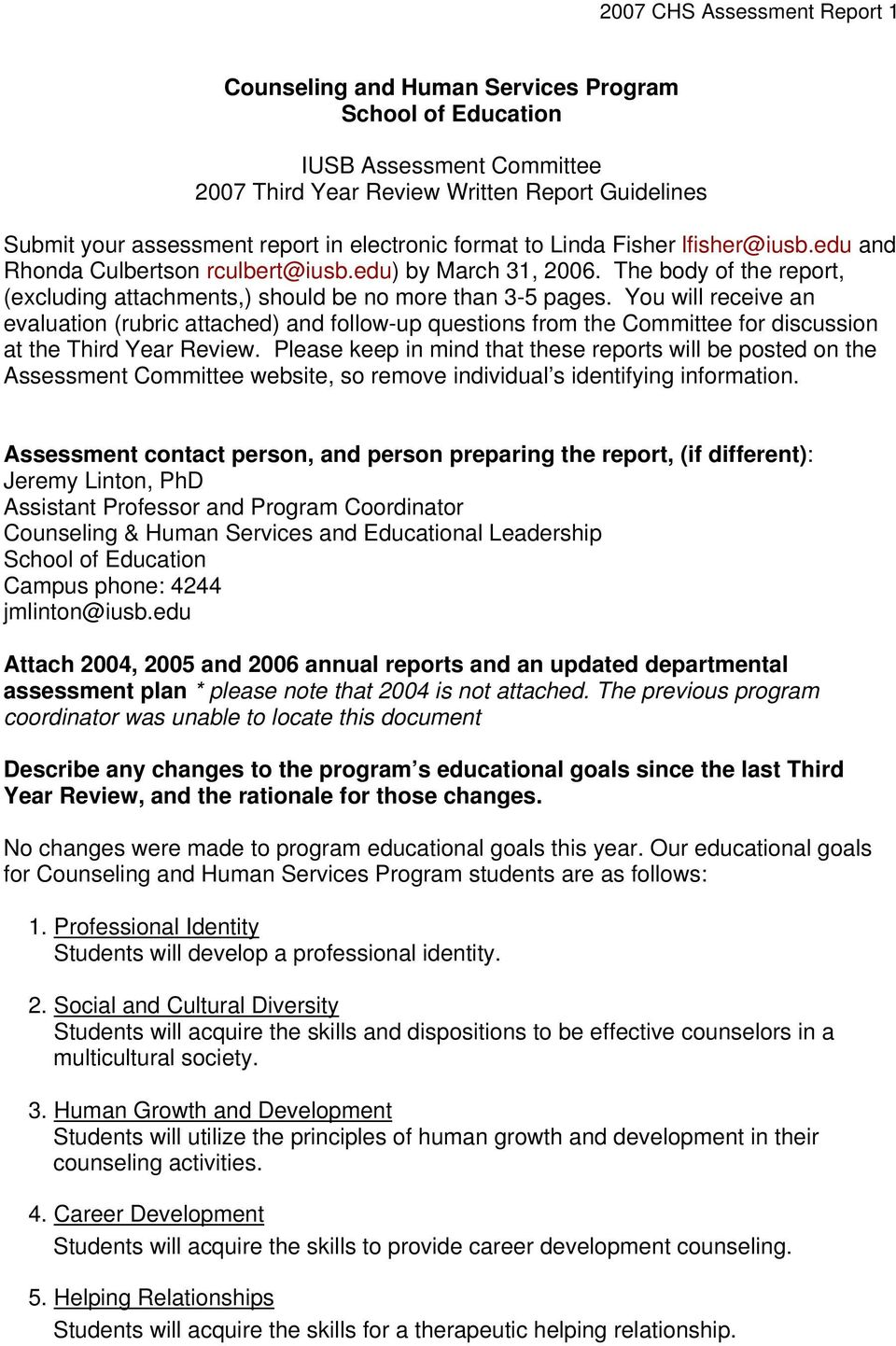 You will receive an evaluation (rubric attached) and follow-up questions from the Committee for discussion at the Third Year Review.