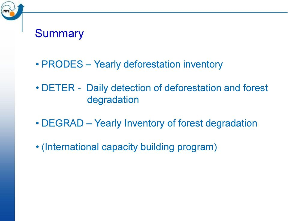 forest degradation DEGRAD Yearly Inventory of