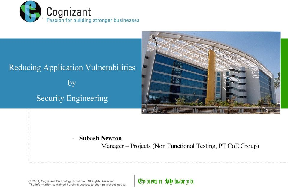 Cognizant Technology Solutions. All Rights Reserved.