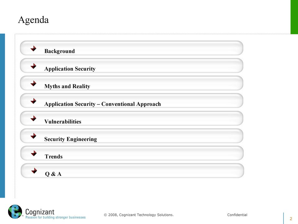 Application Security Conventional