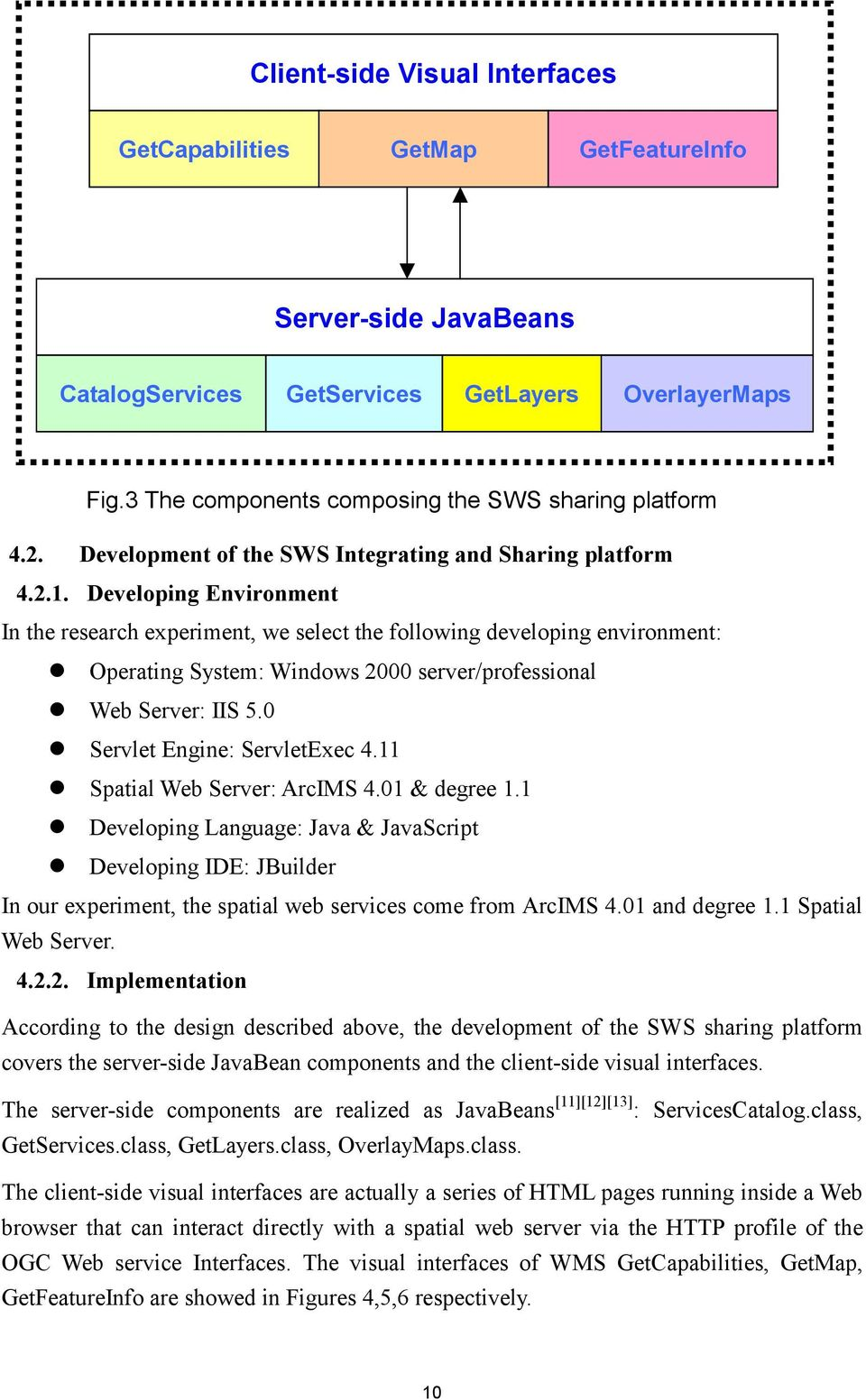 Operating System: Windows 2000 server/professional! Web Server: IIS 5.0! Servlet Engine: ServletExec 4.11! Spatial Web Server: ArcIMS 4.01 & degree 1.1! Developing Language: Java & JavaScript!