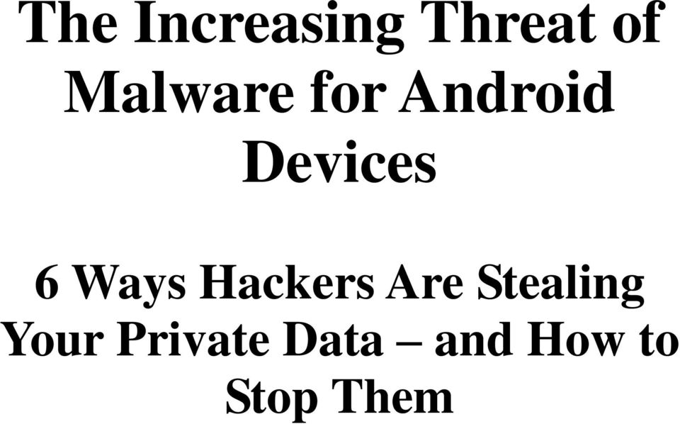 Ways Hackers Are Stealing