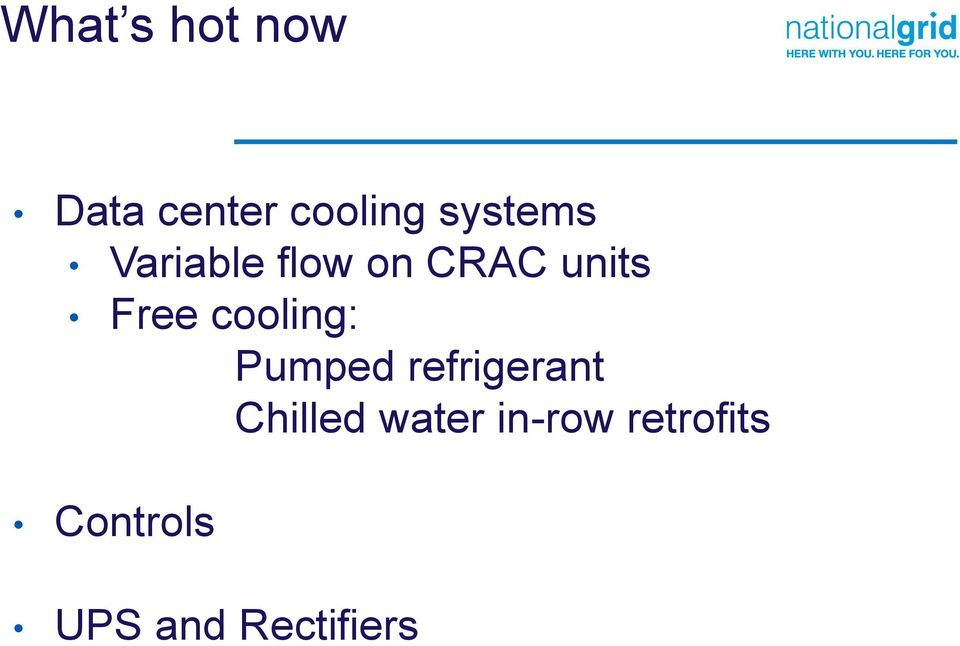 cooling: Pumped refrigerant Chilled