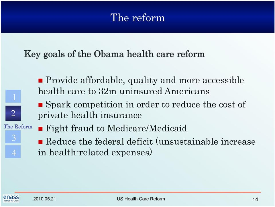 order to reduce the cost of private health insurance Fight fraud to Medicare/Medicaid