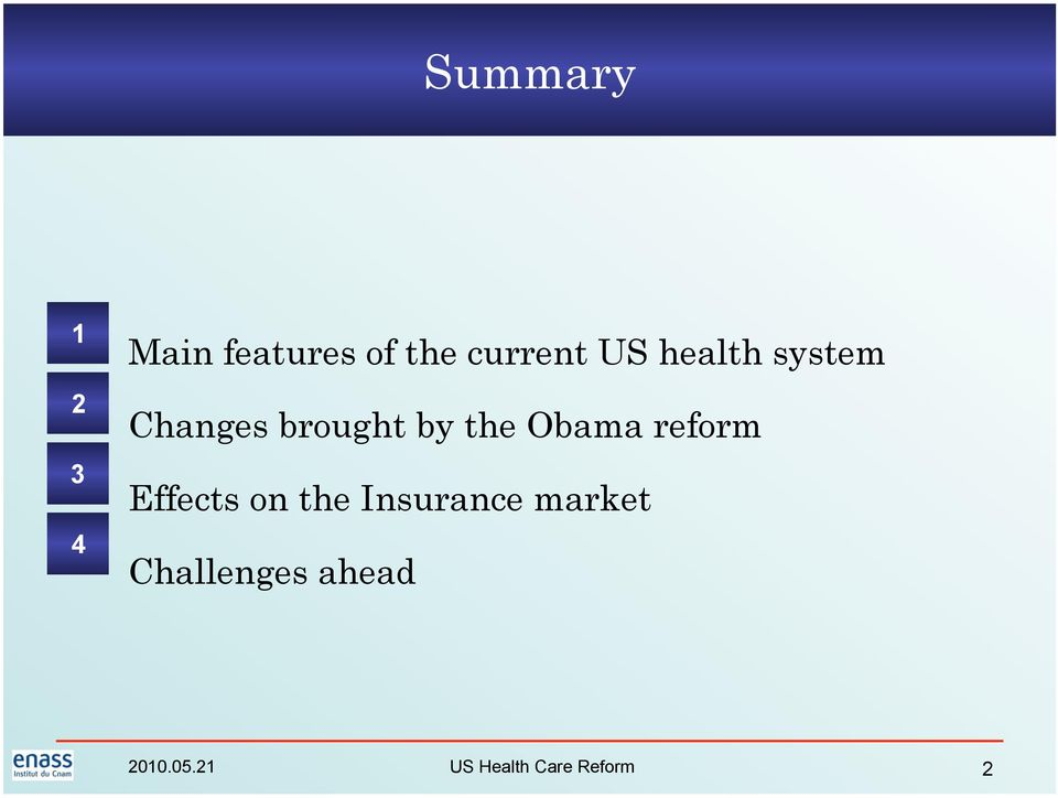 Obama reform Effects on the Insurance