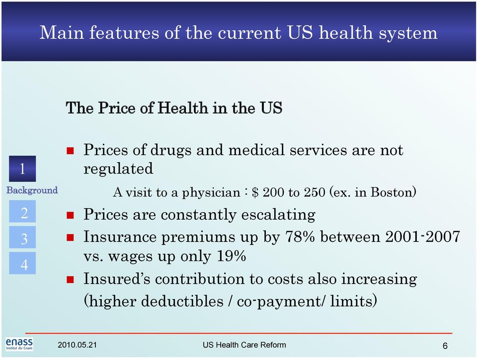 in Boston) Prices are constantly escalating Insurance premiums up by 78% between 00-007 vs.