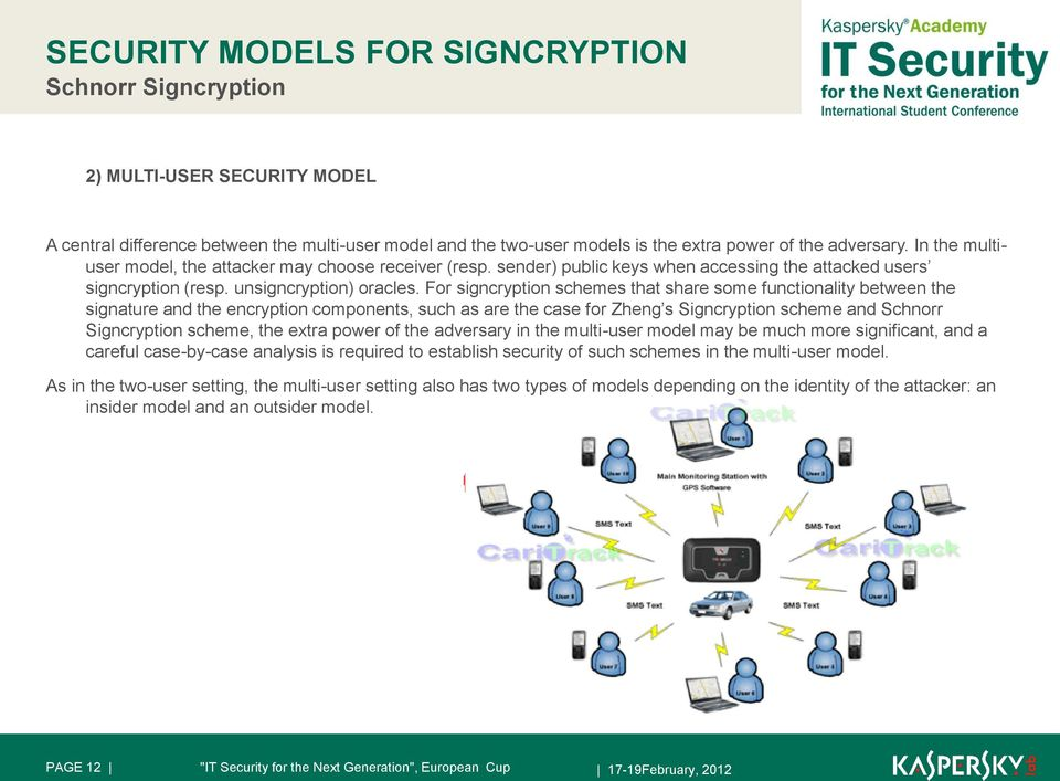 For signcryption schemes that share some functionality between the signature and the encryption components, such as are the case for Zheng s Signcryption scheme and Schnorr Signcryption scheme, the