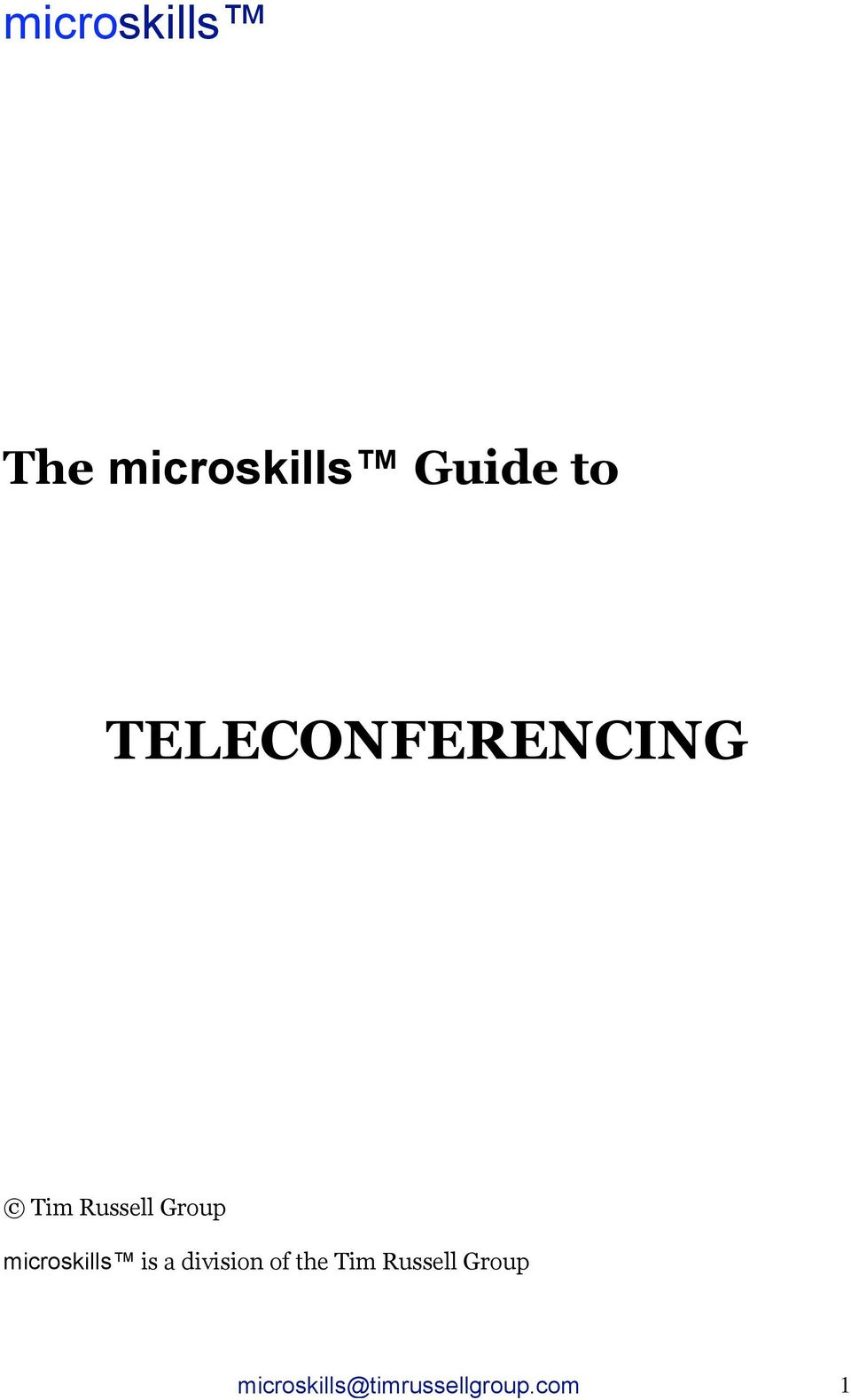 microskills is a division of the