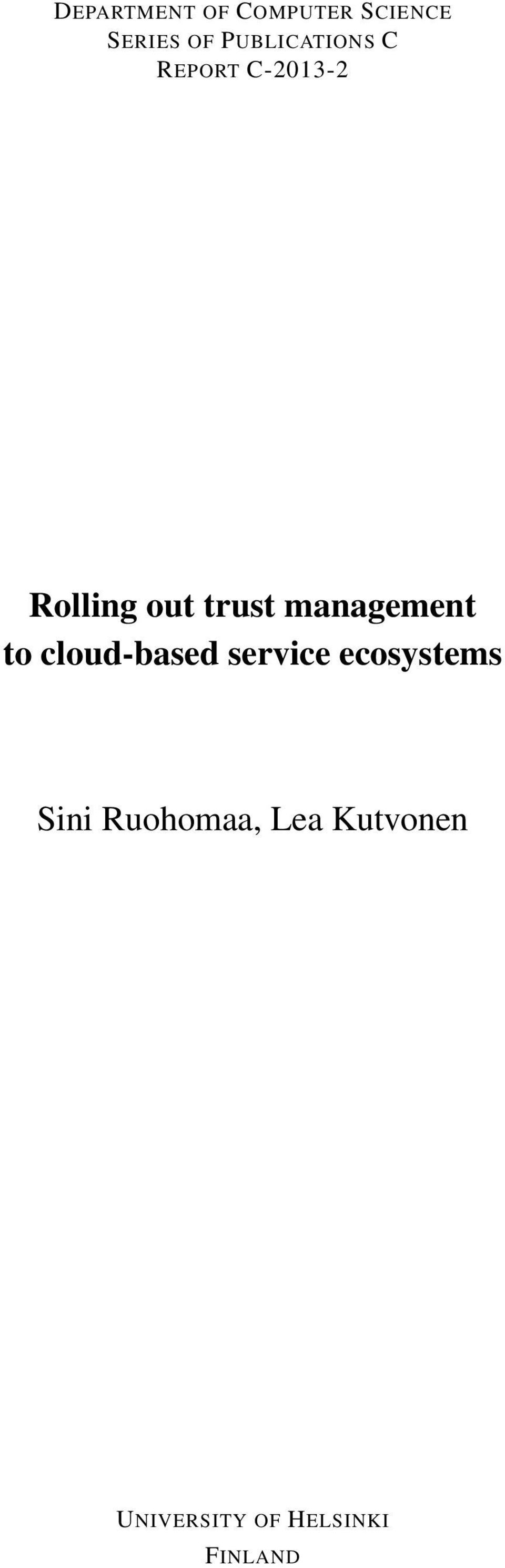 management to cloud-based service ecosystems
