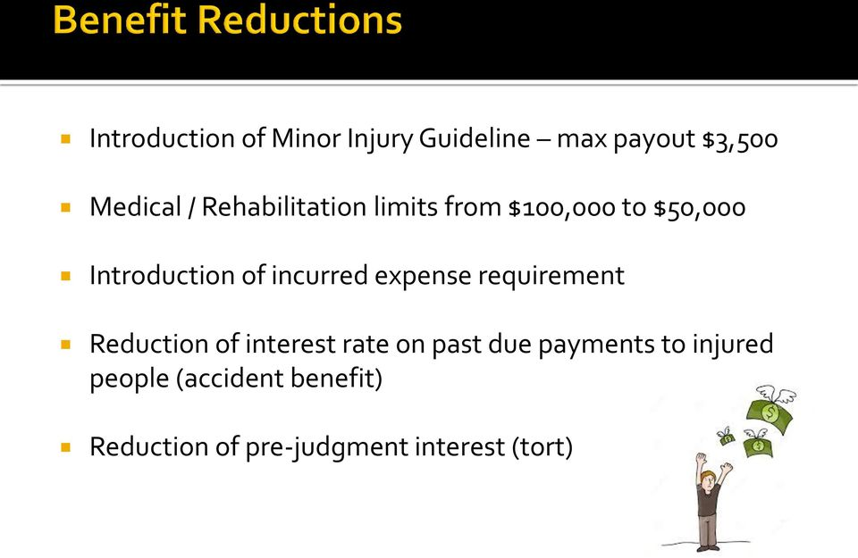 expense requirement Reduction of interest rate on past due payments to