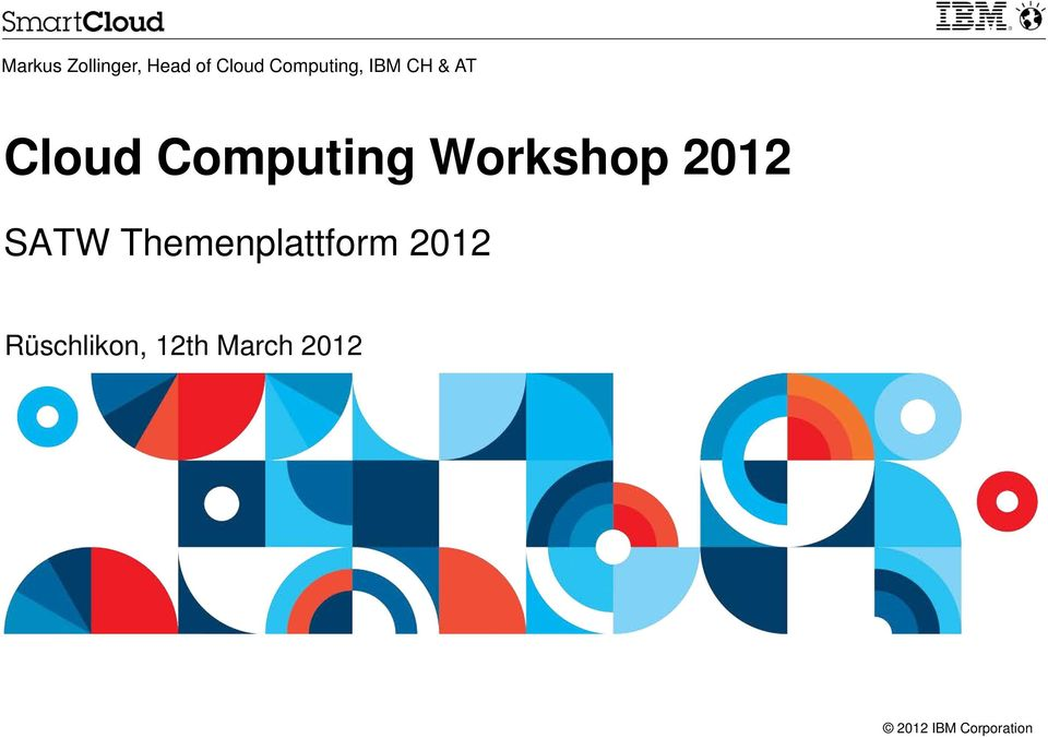 Computing Workshop 2012 SATW