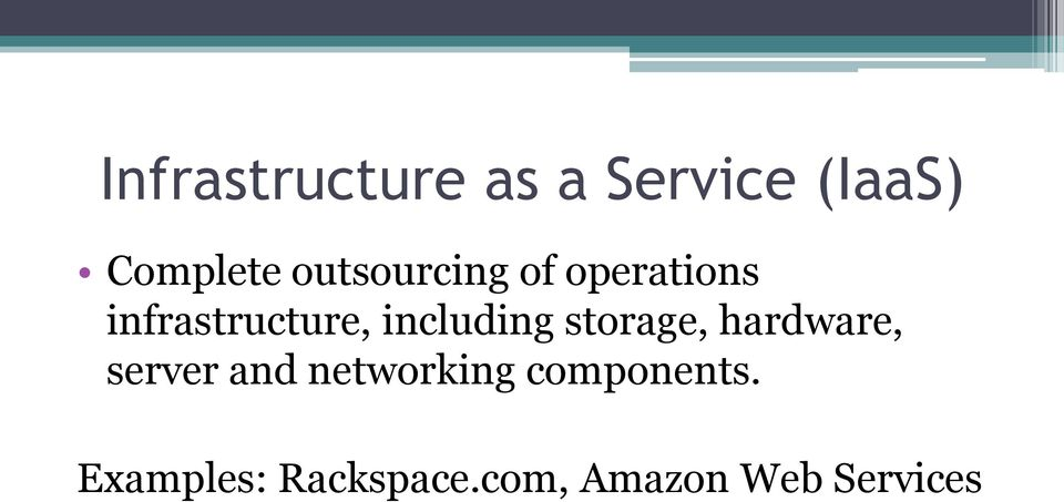 including storage, hardware, server and
