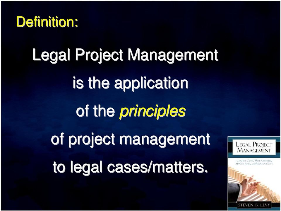 of the principles of project