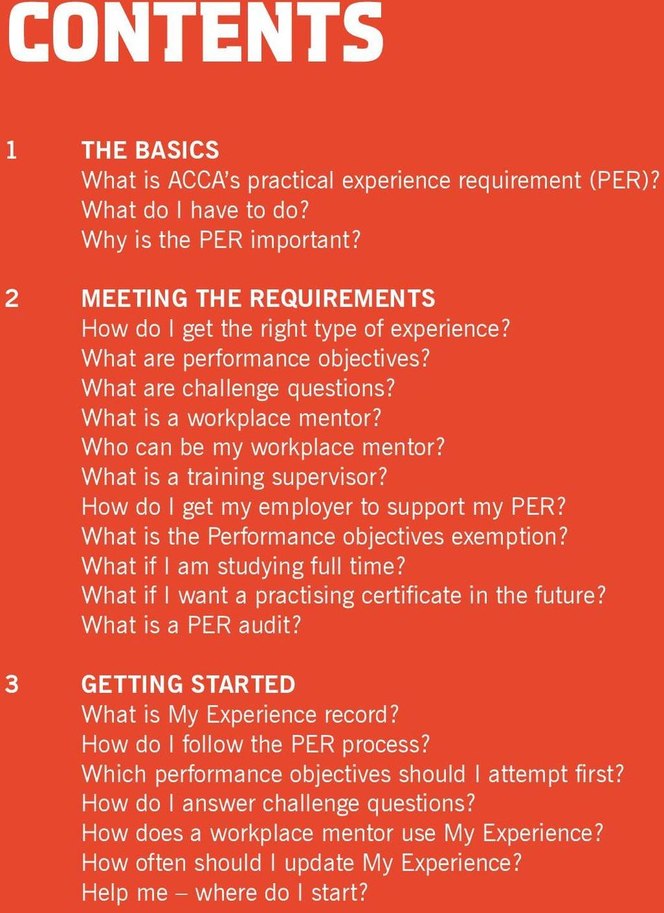 What is the Performance objectives exemption? What if I am studying full time? What if I want a practising certificate in the future? What is a PER audit?