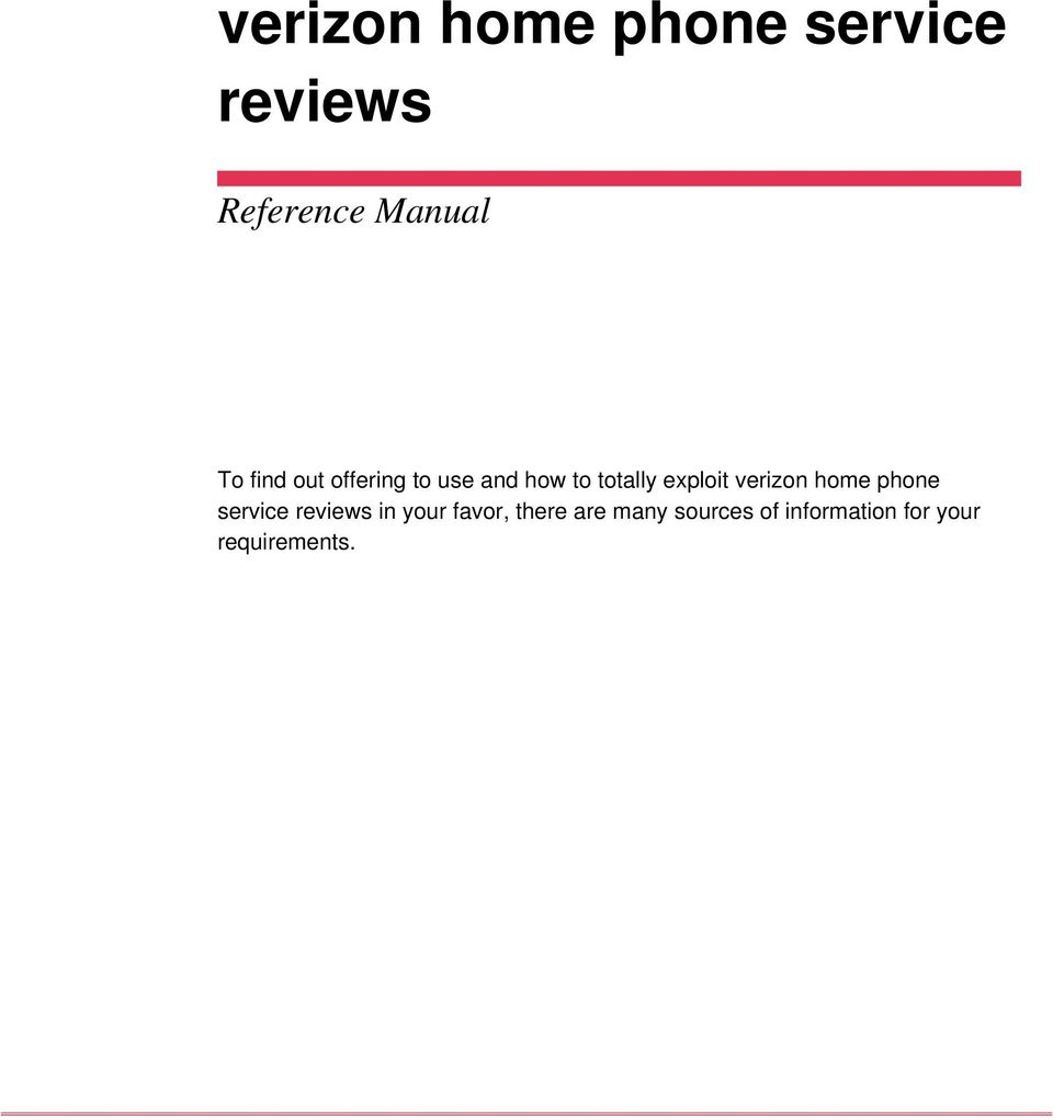verizon home phone service reviews in your favor,