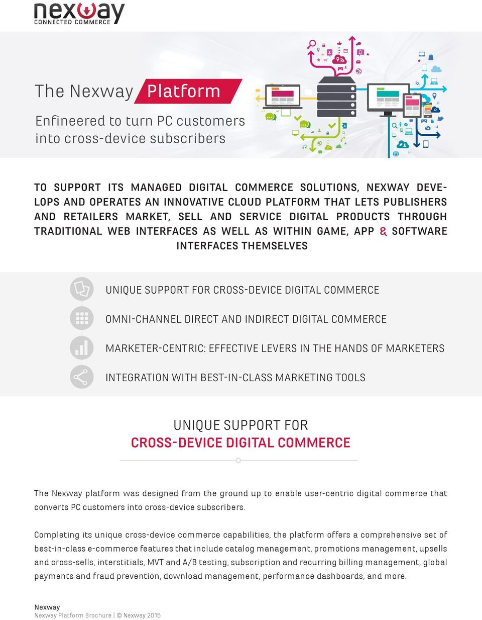 SUPPORT FOR CROSS-DEVICE DIGITAL COMMERCE OMNI-CHANNEL DIRECT AND INDIRECT DIGITAL COMMERCE MARKETER-CENTRIC: EFFECTIVE LEVERS IN THE HANDS OF MARKETERS INTEGRATION WITH BEST-IN-CLASS MARKETING TOOLS