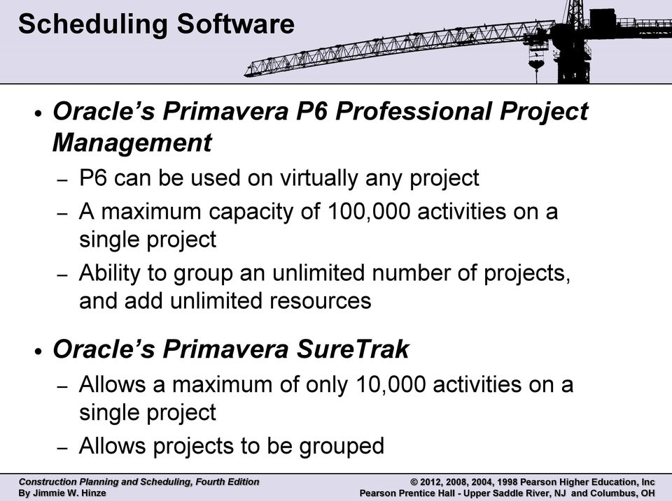 group an unlimited number of projects, and add unlimited resources Oracle s Primavera