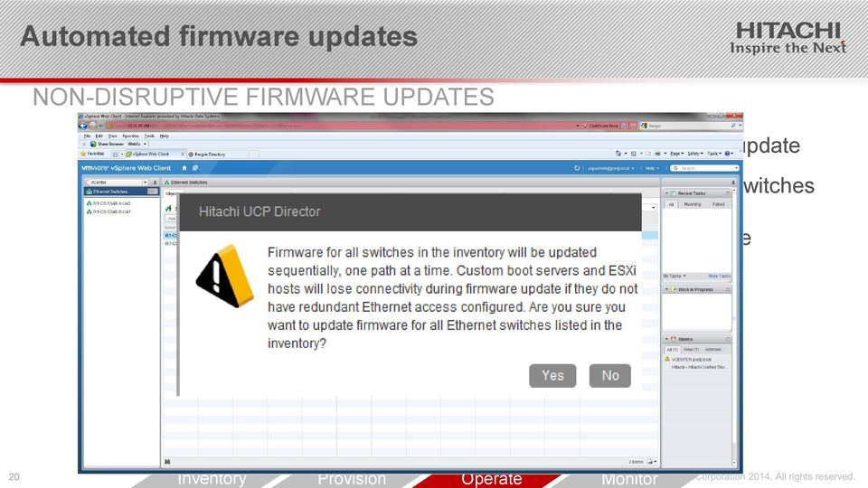chassis, blade and switches firmware from within vsphere All