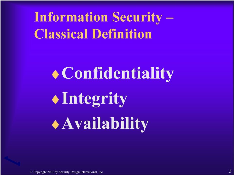 Integrity Availability Copyright