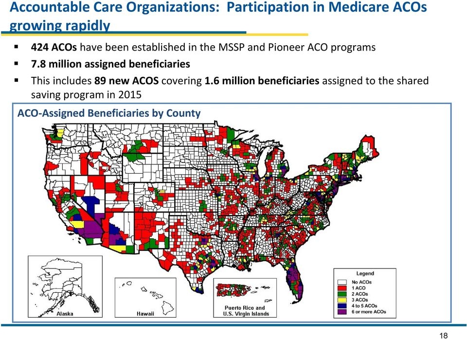 8 million assigned beneficiaries This includes 89 new ACOS covering 1.