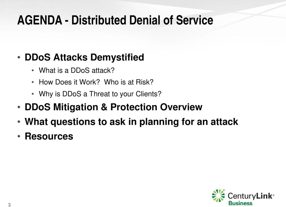 Why is DDoS a Threat to your Clients?
