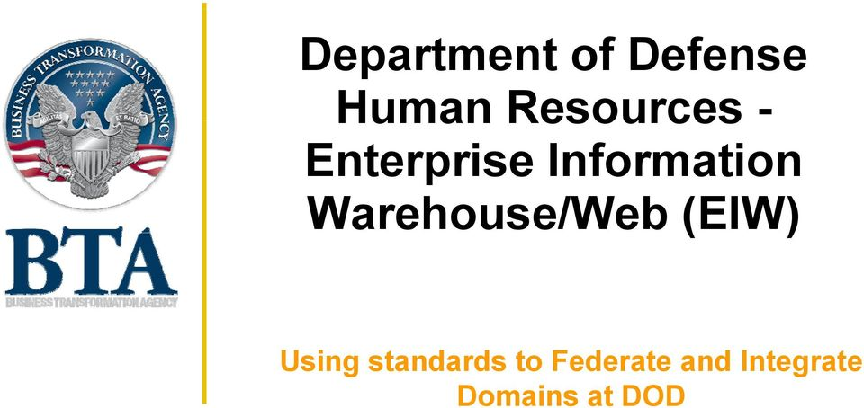 Warehouse/Web (EIW) Using