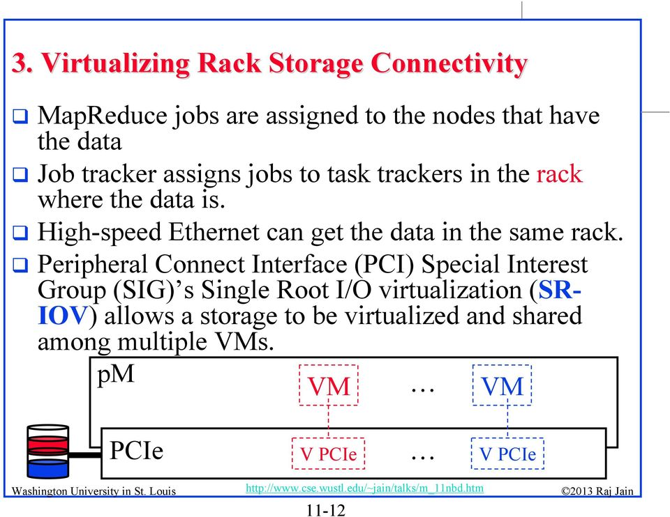 High-speed Ethernet can get the data in the same rack.