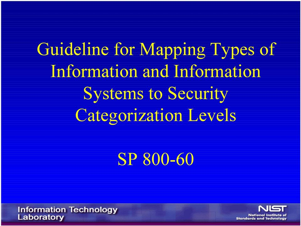 Information Systems to