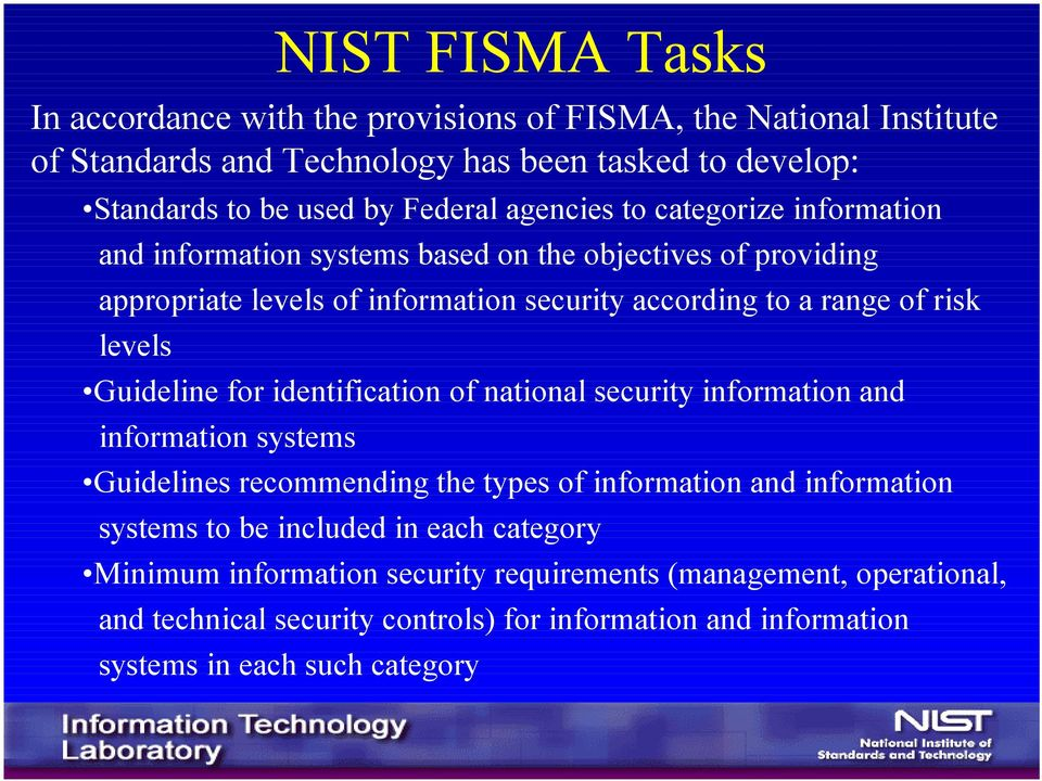 Guideline for identification of national security information and information systems Guidelines recommending the types of information and information systems to be included