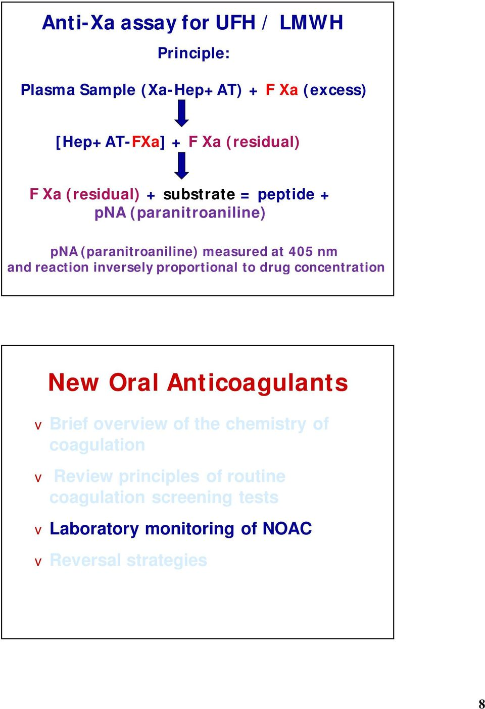 reaction inersely proportional to drug concentration New Oral Anticoagulants Brief oeriew of the chemistry of