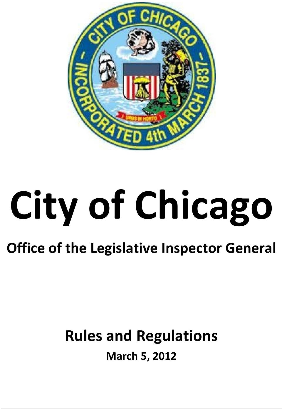 Inspector General Rules