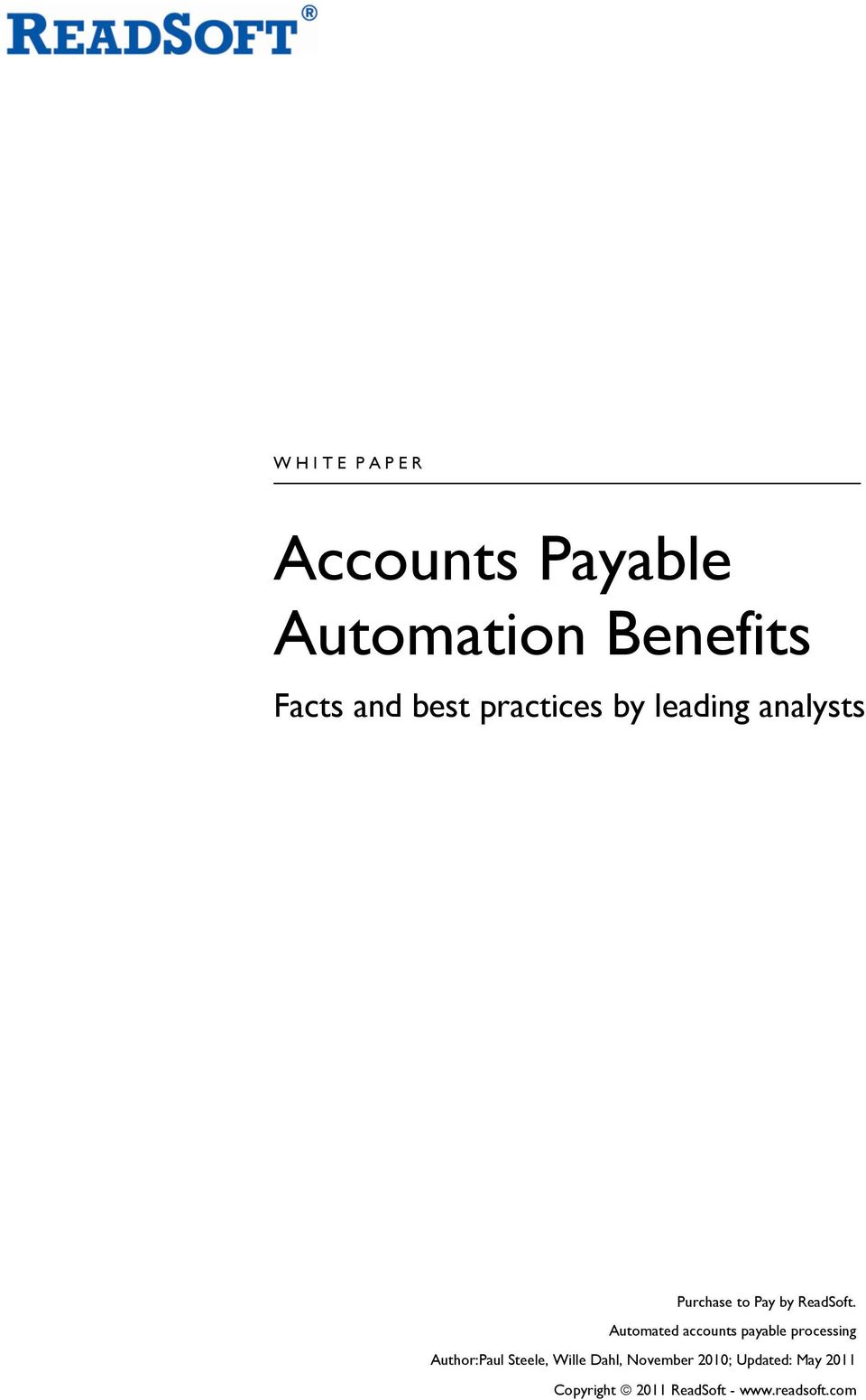 Automated accounts payable processing Author:Paul Steele, Wille