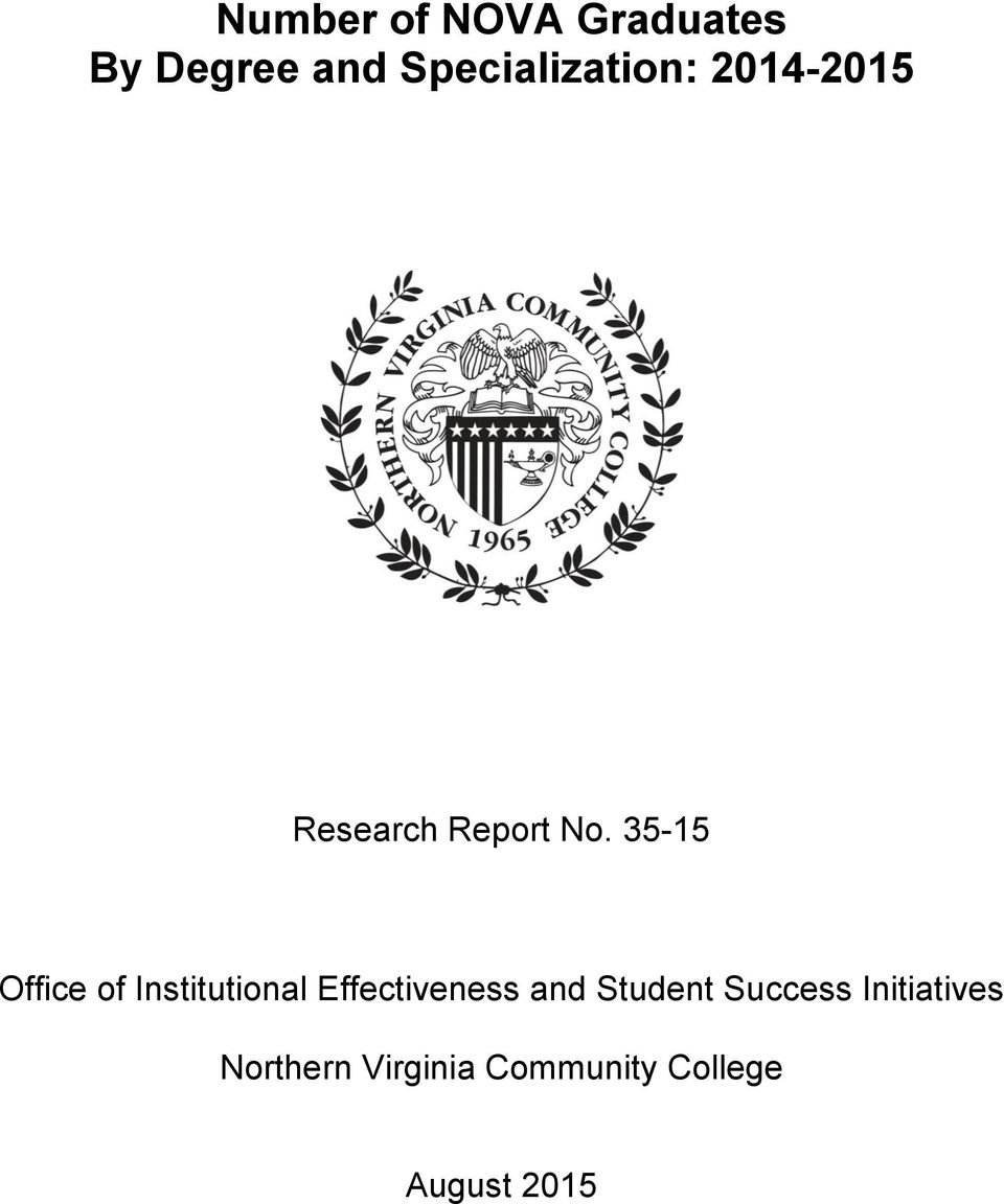 35-15 Office of Institutional Effectiveness and