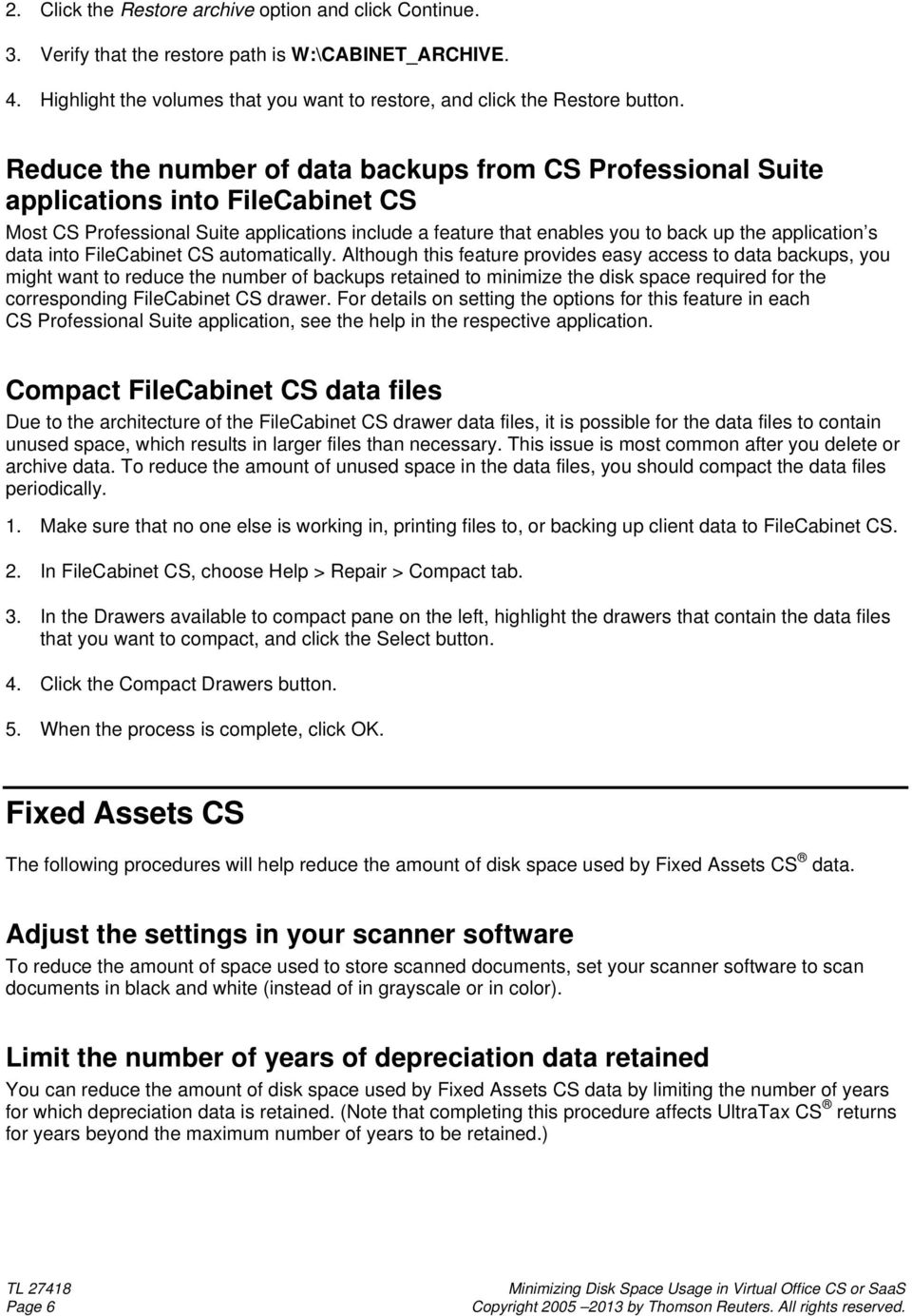 data into FileCabinet CS automatically.