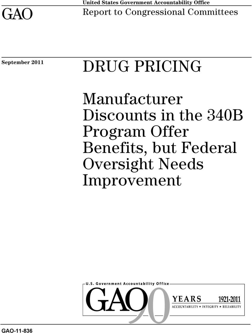 PRICING Manufacturer Discounts in the 340B Program