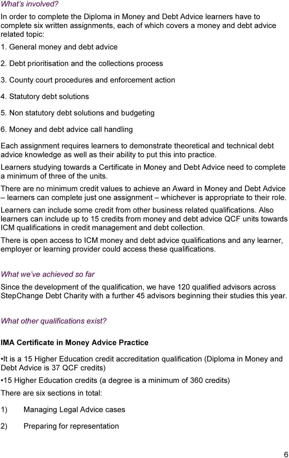 Non statutory debt solutions and budgeting 6.