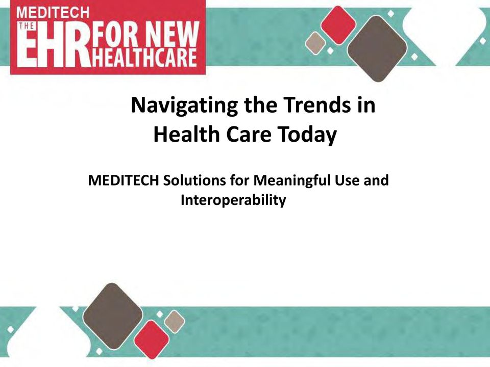 MEDITECH Solutions for