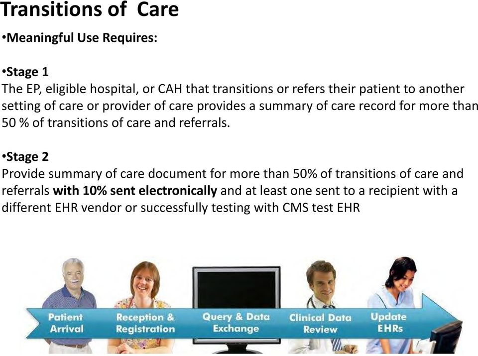 of care and referrals.