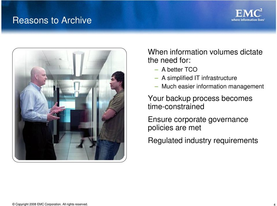 information management Your backup process becomes