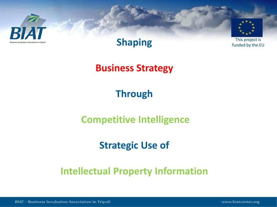 Competitive Intelligence Strategic