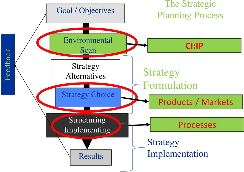 Strategy Choice Structuring Implementing Results