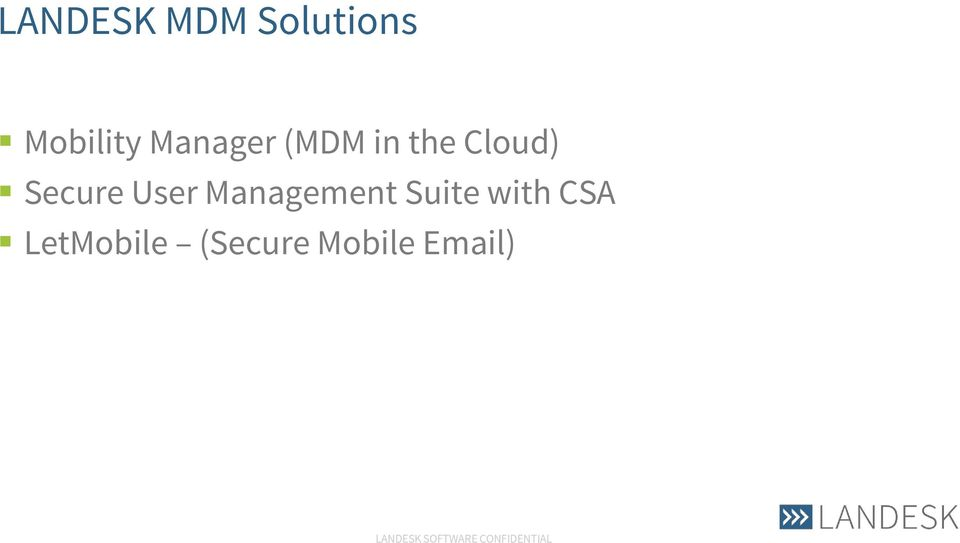 Secure User Management Suite