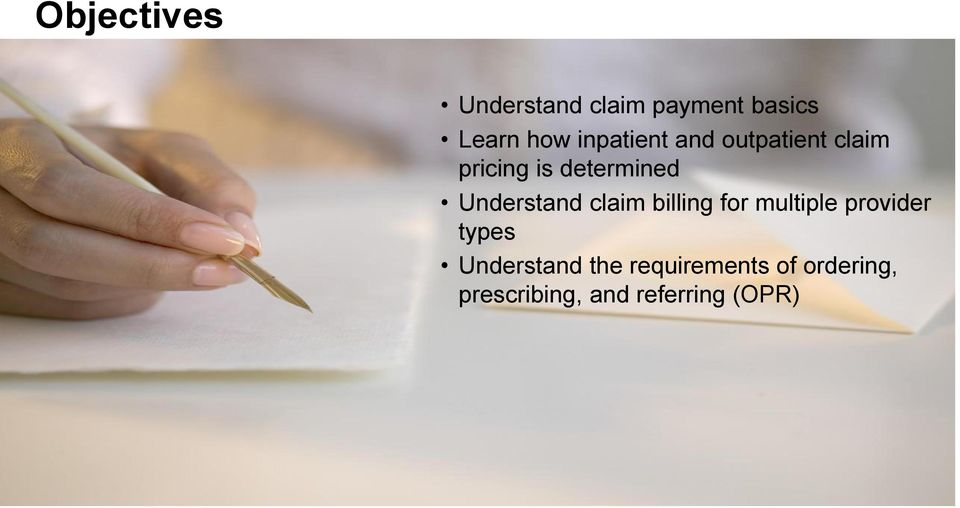 Understand claim billing for multiple provider types