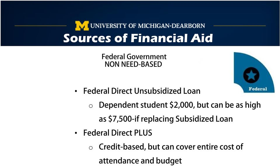 can be as high as $7,500-if replacing Subsidized Loan Federal